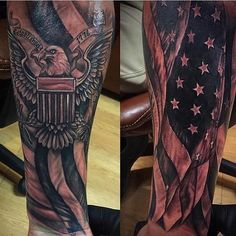 We simply highlight great ink and people. DM or Patriot. Half Sleeve Tattoos For Guys, Best Sleeve Tattoos, Tattoo Sleeve Designs, Wicked Tattoos, Badass Tattoos, Body Art Tattoos, American Flag Sleeve Tattoo, American Tattoos, Patriotic Tattoos