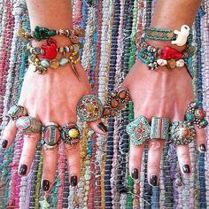 Frolic Stones...Tibetan rings,  Boho jewelry, Bohemian bracelets