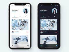 Profile screen, iphoneX