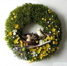 Easter Flower Arrangements, Easter Flowers, Easter Wreaths, Christmas Wreaths, Christmas Ornaments, Wreaths And Garlands, Welcome Wreath, Spring Home Decor, Wreath Crafts