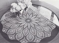 Tablecloth Crochet Patterns- Oval, Round, Square, Filet
