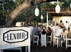 Wine garden menu & happy hour