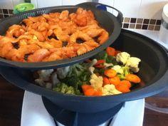 Rezept Hähnchengeschnetzeltes mit Tomaten-Käse-Sauce, Gemüse und Reis (WW) von iluep - Rezept der Kategorie Hauptgerichte mit Fleisch