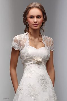 lace dresses with sleeves | ... the Look of Exquisiteness / lace wedding dress with cap sleeves siji