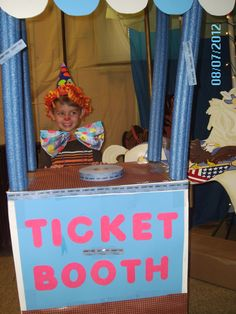 DIY ticket booth made with pool noodles
