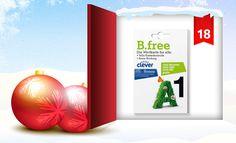 Hinter dem Fenster unseres clever® Adventkalenders 2012 findet Ihr heute die Neuauflage des B.free Welcome-Packages mit clever® Bonus! Wie Ihr damit gewinnen könnt, erfahrt Ihr in unserem Onlinemagazin http://www.cleverleben.at/clever-magazin/post/2012/12/18/das-18-fenster-ist-offen.html