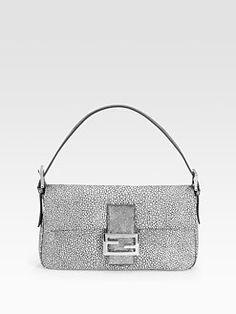 6aaf02429b leather baguette fendi Little Bag