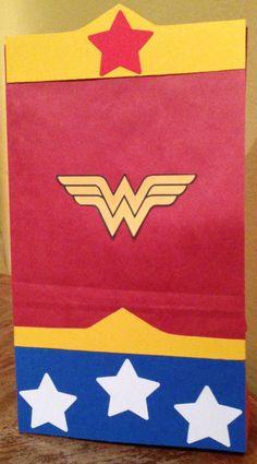 Wonder woman treat bag