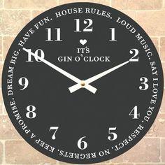 It's Gin O'clock Clock