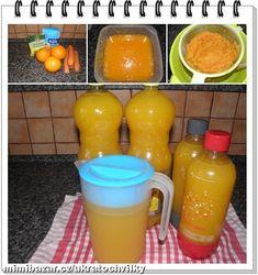 Postup: pomeranče i s kůrou a mrkev nakrájíme na malé kostičky nebo mrkev nastrouháme, dáme vařit do... Czech Recipes, Iced Tea, Summer Drinks, Preserves, Food Inspiration, Pickles, Smoothies, Beverages, Food And Drink