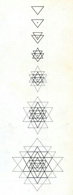 How to draw the Sri Yantra mandala.