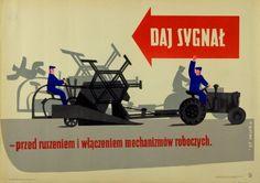 Work Safety Daj sygnal! - BHP Kobak Tadeusz Polish Poster
