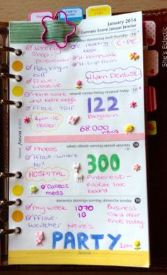She's Eclectic: My week in my Filofax #3 - close up