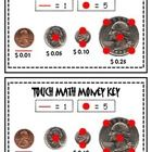 When teaching touch math with money, here is a reference strip for students to have with them practicing counting money at an independent or game s...