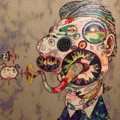 """Homage to Francis Bacon"", 2016 de Takashi MURAKAMI - Galerie Perrotin © Photo…                                                                                                                                                                                 Plus"