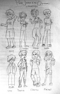 The main-ish characters in The Percy Jackson and The Olympians series. Nico is really accurate! Percy Jackson Film, Percy Jackson Head Canon, Percy Jackson Fandom, Percabeth, Solangelo, Magnus Chase, Viria, Dibujos Percy Jackson, Trials Of Apollo