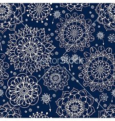 Floral seamless pattern with flowers vector 1996380 - by Elmiko on VectorStock®