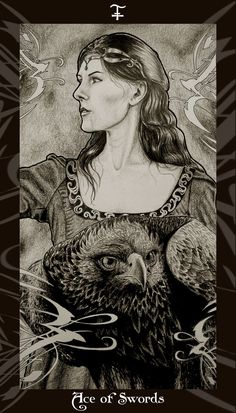 HP Tarot Ω Ace of Swords by Ellygator.deviantart.com Ω Rowena Ravenclaw