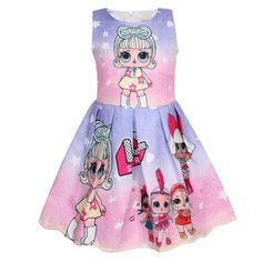 35f4f39ecf New Baby Girls 2019 Princess dresses LOL dolls Children Halloween party dress  cute Vestido girl lol clothing 3 4 5 6 7 8 9 10Y. Yesterday s price  US   24.98 ...