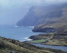 Faroe Islands + football pitch. Wow.