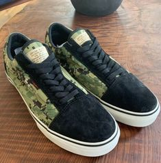 501a59dd198f98 Vans Syndicate x Defcon Old Skool Pro S Olive Black Sz 10.5 Camo AOR2 Vans  Syndicate