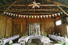 barn wedding receptions - photo by Sara Wilde http://ruffledblog.com/pucks-farm-wedding