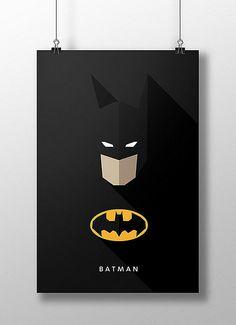 Flat Design e personagens da cultura pop nos pôsteres de Moritz Adam Schmitt Flat Design Poster, Typographie Inspiration, Web Design, Design Trends, Pixel Design, Logo Design, Affinity Designer, Im Batman, Batman Bag