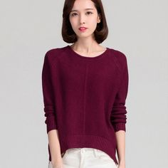 new fashion Casual winter autumn thick loose women sweater long sleeve O-neck…