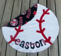 Hey, I found this really awesome Etsy listing at https://www.etsy.com/listing/130736976/boston-red-sox-baseball-baby-blanket