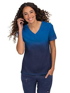 online shopping for KOI Lite Women's V-Neck Ombre Reform Scrub Top from top store. See new offer for KOI Lite Women's V-Neck Ombre Reform Scrub Top Online Fashion, Koi Scrubs, Rain Jacket Women, Long Trench Coat, Party Skirt, Tommy Hilfiger Women, Scrub Tops, 1950s Fashion, Super Skinny