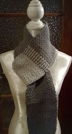 Man scarf. I found the free crochet pattern here: http://goodknits.com/blog/2012/12/22/crochet-hombre-scarf/  Handmade by Mü1too