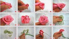 Dinorah Creativa: Paso a paso flor en liston o tela