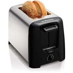 Hamilton Beach Cool Wall 2-slice Toaster, Chrome Extra-wide Slots ** More info could be found at the image url. #OvensToasters