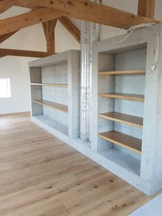Rayonnage en chêne massif Bookcase, Loft, Shelves, Bed, Furniture, Home Decor, Solid Oak, Shelving, Decoration Home