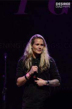 Ashlyn Harris at a TWLOHA event, date unknown