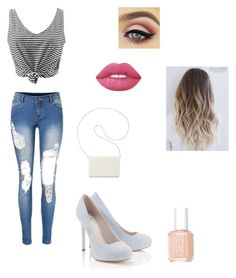 """"""""""" by teen-wolfeuse on Polyvore featuring Lipsy, Nine West, Lime Crime and Essie"""