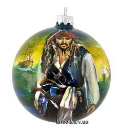 "Подарок Эксклюзив! Новогодний шар ""Капитан Джек Воробей"""