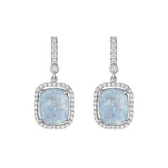 Cushion Opal Earrings
