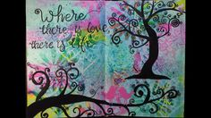 Art Journal Page 103 - Still hooked on the whimsical theme and still loving the Dina Wakley heavy body acrylic paints!