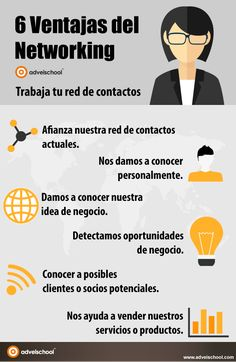 6 ventajas del Networking #infografia #infographic #marketing
