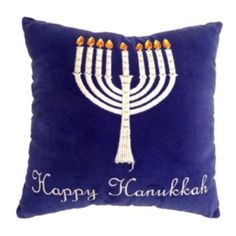 ''Happy Hanukkah'' Throw Pillow