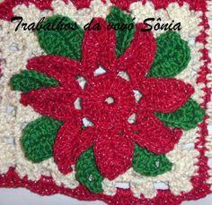 Trabalhos da vovó Sônia: Flor Raio de Luz da Simone - croché