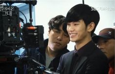 Man From the Stars - BTS - Kim Soo Hyun...love that smile