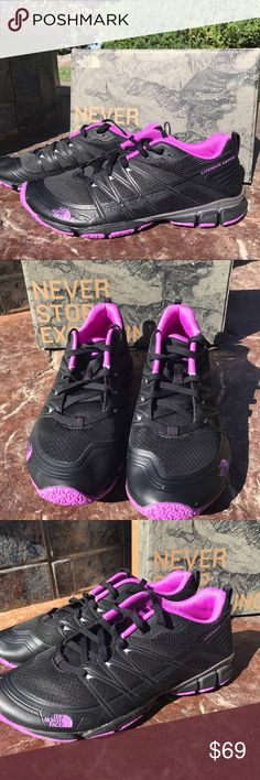 NEW The North Face Litewave Athletic Shoes 6.5 New in original The North Face Box. The North Face Litewave Ampere Training shoes with arch support and contoured padded ankle.  Runs true to size.  Women size 6.5.  Color; black & Sweet Violet The North Face Shoes Athletic Shoes
