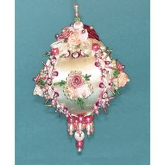Mary Maxim - Victorian Rose Collector Christmas Ornament - Beaded Kits & Ornaments - Crafts