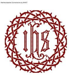 Weihkorbdecken Zählvorlage - Weihkorbdecken - Themen Hand Embroidery, Embroidery Designs, Cross Patterns, Lost Art, Cool Diy Projects, Needlework, Cross Stitch, Banner, Fascinator