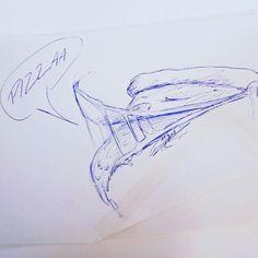 "(@piathepurplepainter) auf Instagram: ""Lunchtime skribble #3. A pizzaaaaaa Monster. #art🎨 #ballpenart #pizza #pizzas #drawing #drawings…"""