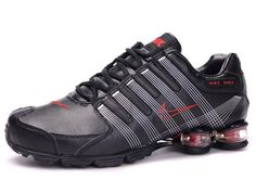 Chaussures Nike Shox R4 Noir  Blanc  Rouge  nike 12272  - €46.93   d53e9a622