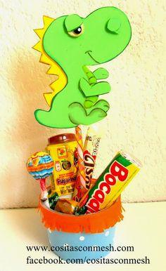 Manualidades para dia del niño dulcero dinosaurio ~ cositasconmesh