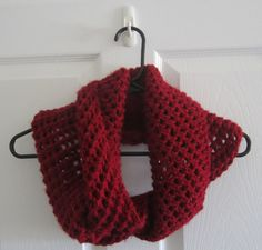 Chunky Knit // Red Cowl // With a Twist // Deep by itsCOWLdoutside, $27.00